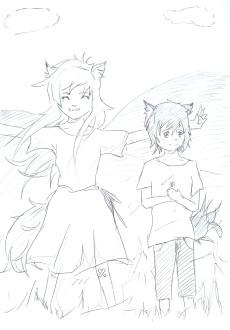 Ame & Yuki gezeichnet von Mi