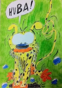 Das Marsupilami gemalt von AsDa