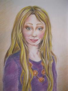 Luna Lovegood hat ab dem 5. Harry Potter-Band ihren Einsatz. Gezeichnet von Olivia 13 Jahre!!