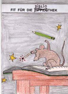 Die Maus aus der Pippilothek gemalt von Irmgard